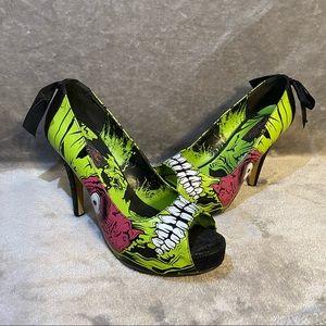 Iron Fist Zombie Stomper Platform Heels